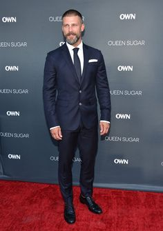 """Greg Vaughan - Don't know this guy from anything (he's in and at the premiere of """"Queen Sugar"""") but my, he looks nice."""