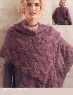 Shawl knitting pattern free