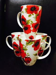 Green Dots /& Spots Mugs Set of 2 Bone China Balmoral Green Mugs Decorated in UK
