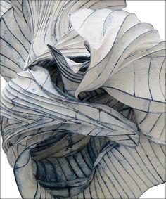 Paul Gentenaar paper sculpture, for more see: http://loveisspeed.blogspot.com/2012/08/ethereal-paper-sculptures-float-inside.html