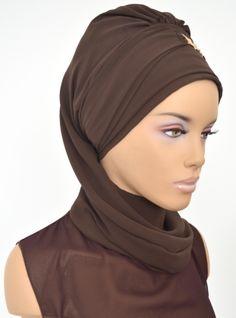 Ready-to-wear Turban - Brown - Ayşe Türban Tasarım