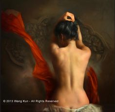 Memories by Wang Kun at Quent Cordair Fine Art - The Finest in Romantic Realism