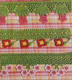 Lots of thread crochet borders and more (diagrams) ༺✿ƬⱤღ http://www.pinterest.com/teretegui/✿༻
