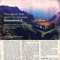 Alarm - Amazing Lost Ad by Adam Campbell on fakeanything.com