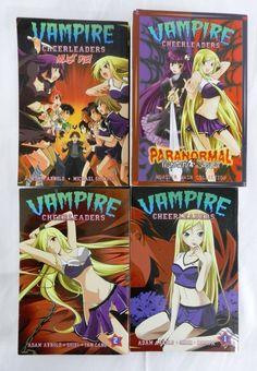 Lot 4 Anime Graphic Novel Vampire Cheerleaders Paranormal Mystery Squad Magna