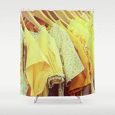 Yellow Vintage Dresses  Custom Shower Curtain  Photographic Art  Bathroom Decor   Bath Accessories  Home Decor  Gift For Her  fpoe