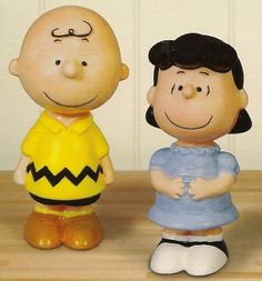 Charlie Brown and Lucy...Salt and pepper shakers. Hope to get one of these here one day.