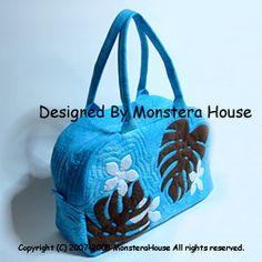 作り方(ボストンバッグの仕立て方)-ハワイアンキルトの制作と指導をしている【Monstera House】