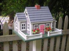 Nantucket cottage birdhouse
