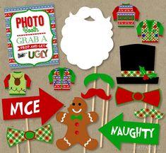 christmas photo booth props - Buscar con Google