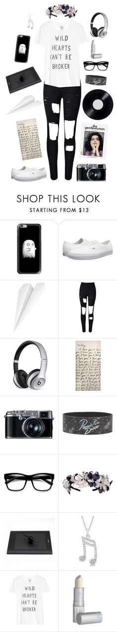 """""""Napstablook-Undertale"""" by conquistadorofsorts ❤ liked on Polyvore featuring Casetify, Vans, Fred & Friends, WithChic, Beats by Dr. Dre, Sugarboo Designs, Retrò, ZeroUV, Allurez and Zoe Karssen"""