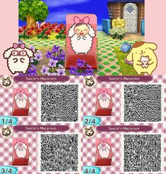 Kawaii Sheep Face board Standee Animal Crossing New Leaf Qr Code