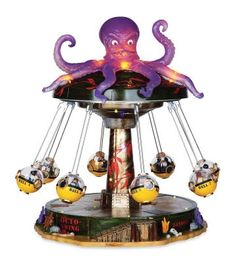 Octo-Swing, with Adapter - Lemax Spooky Town Village Accessory Halloween Village Display, Halloween Skeleton Decorations, Lemax Christmas Village, Halloween Carnival, Christmas Villages, Halloween House, Holidays Halloween, Lemax Village, Halloween Queen