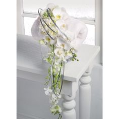 White Orchid Floral muff