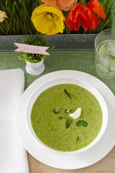 Chilled Pea Soup #myplate #soup #spring