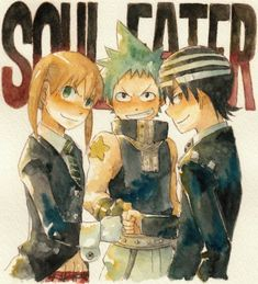 Soul Eater: Maka, Black Star, and Death the Kid