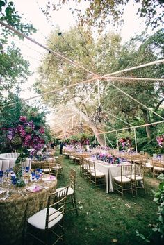 Gorgeous Outdoor Tent with String Lights    Photography: Mi Belle Photographers   Read More:  http://www.insideweddings.com/weddings/colorful-outdoor-wedding-with-supper-club-theme-in-los-angeles-ca/741/