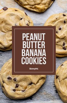 Combine 6 simple ingredients, and in less than 15 minutes you'll be able to indulge in these easy peanut butter banana cookies! Best Dessert Recipes, Healthy Desserts, Whole Food Recipes, Cookie Recipes, Delicious Desserts, Healthy Baking, Healthy Eats, Peanut Butter Banana Cookies, Peanut Butter Recipes