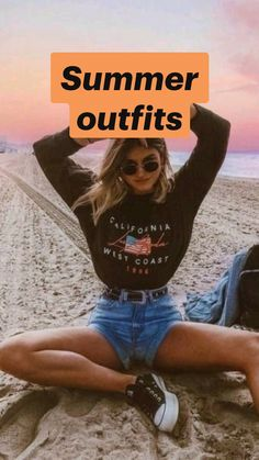 Trendy Outfits For Teens, Teenage Outfits, Cute Teen Outfits, Cute Outfits For School, Cute Comfy Outfits, Cute Summer Outfits, Spring Outfits, Girls Fashion Clothes, Teen Fashion Outfits