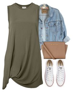 """""""V.XXVI.MMXVI"""" by justice-ellis ❤ liked on Polyvore featuring Witchery, MICHAEL Michael Kors and Converse"""