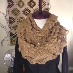 """NWT Collectioneighteen Brown & Gold Scarf NEW WITH TAGS! 100% acrylic """"Super Sparkle"""" infinity loop scarf  Collectioneighteen Accessories Scarves & Wraps"""