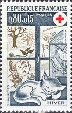 Red Cross Semi-postal Stamp - France, 1974