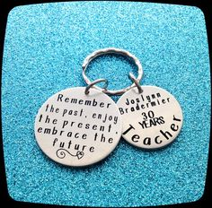 Retirement Gift, Gift For Retirement, Retirement Key Ring, Teacher Retirement, Paralegal, Nurse, Secretary, Therapist, ENGRAVED