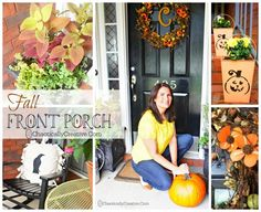 Fall Front Porch Planters and More - Chaotically Creative