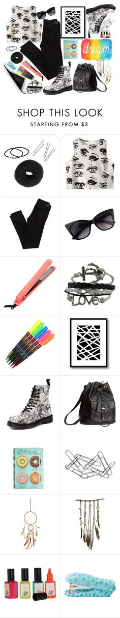 """""""Dream."""" by marianazarova ❤ liked on Polyvore featuring NLY Accessories, Chicnova Fashion, American Eagle Outfitters, Bellini, Dr. Martens, H&M, Home Decorators Collection, SoulMakes and DK"""
