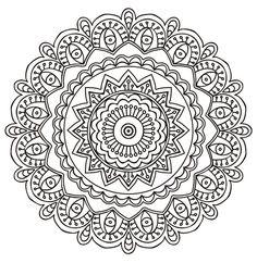 Mystical mandala doodle