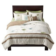 Floral Embroidered 5-Piece Bedding Set - Ivory