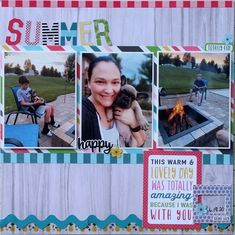 Summer Nights Layout by Sam (@taylorstamped) using our gorgeous August 2020 Kit ✂💯✂  ⁣⁣⁣⁣Want to get these adorable papers? Visit scrapbookingstore.com now, be sure to join us and get exciting deals!💝  ⁣⁣⁣#scrapbookingstore #summerfun #scrapbooklayout #scrapbookingkits #papercraft #scrapbooking #cardmaking Birthday Scrapbook, Baby Scrapbook, Scrapbook Paper, Scrapbooking, End Of Summer, Summer Fun, Small Backyard Pools, Paper Background, Summer Nights