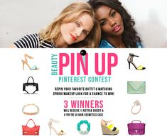 JustFabs Beauty Pin-up Contest: Re-pin your favorite outfit and matching spring makeup look from our contest board! Three winners will receive 1 JustFab credit and a You're So Vain Cosmetics Case! https://pinterest.com/justfabonline/justfabs-beauty-pin-up-pinterest-contest/