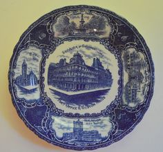 Souvenir Plate Cincinnati Ohio Blue and by SongSparrowTreasures, $10.00