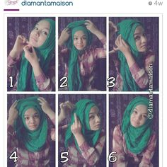 Crinkle shawl hijab tutorial