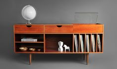 Hindsvik | Mid Century Modern Furniture, Home Decor & Design Shop - Swedish Teak Record Cabinet