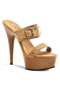 93ea09df1 Tan Faux Leather Wooden Platform High Heels. Tan Sandals ...