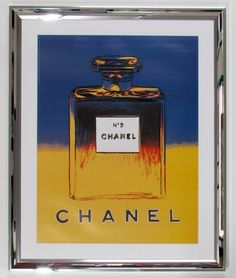 Andy Warhol Chanel no 5 Pink/Blue, superbly framed