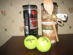 tennis gifts; line can w/cellophane bag