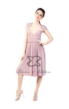 Eliza and Ethan - Multiway - Infinity - Bridesmaids Dresses - OneSize - Short MultiWrap Dress Color: Dusty Rose Dusty Rose Gown, Multi Wrap Dress, Dresses For Work, Summer Dresses, Formal Dresses, Infinity Dress Bridesmaid, Bridesmaids, Bridesmaid Dresses, Convertible Dress