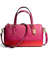 COACH SAFFIANO MINI SATCHEL IN COLORBLOCK LEATHER -- can't which i like best, the satchel or the tote -- I think maybe this one! The color combination is wonderful.