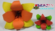 Mary Creative – Origami #10 |How to make origami lily flower| easy origa...