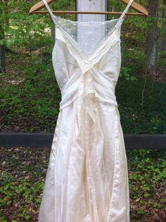 Vintage inspired 1930's style silk and by RosebudVintageBridal