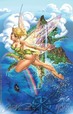 Beautiful Tinker Bell by J. Scott Campbell