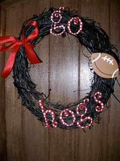 hogs wreath made by yours truly
