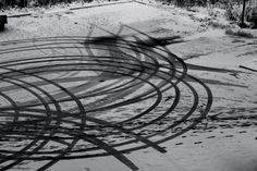 tire marks in snow