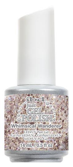 Hideaway Haven Collection - 'Whimsical Wanderer' - Iridescent rose gold glitter. #ibd #ibdbeauty #justgelpolish #justgel #gelmanicure #gelnails #gelmani #manicure #nails #mani #serene #relax #pamper