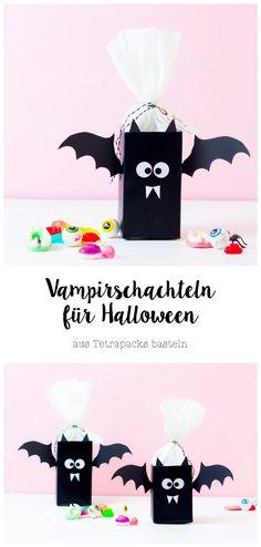 Vampir-Schachteln aus Tetrapacks für Halloween basteln– Wundertütchen