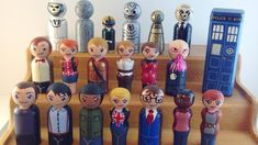 Act Out Your Own DOCTOR WHO Stories with Cute Peg People. I want to make ALL of these for Mardi Gras throws this year!!! :-)