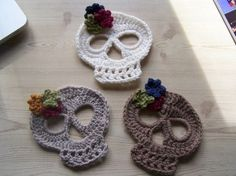 The Homestead Survival | Crochet A Shawl with Skulls Homemade Project | http://thehomesteadsurvival.com
